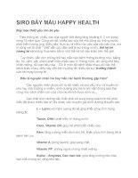 Siro bảy màu happy health dành cho trẻ em