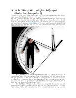 5 cách điều phối thời gian hiệu quả dành cho nhà quản lý