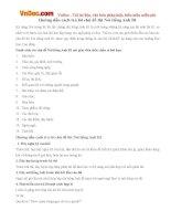 Hướng dẫn cách trả lời chủ đề thi Nói tiếng Anh B1