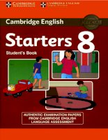 Tests starters 8 book