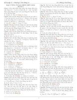 Bài tập Vật lý lớp 12 chương 1: Dao động cơ