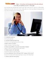 Tiếng Anh Giao tiếp văn phòng Lesson 1: Hẹn gặp