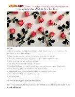 Luyện nghe chép chính tả: Growing Roses