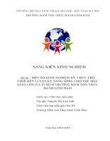MỘT số KINH NGHIỆM tổ CHỨC TRÒ CHƠI rèn LUYỆN kỹ NĂNG SỐNG CHO TRẺ mẫu GIÁO lớn (5 6 TUỔI) ở TRƯỜNG mầm NON THỰC HÀNH LINH đàm