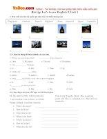 Bài tập Let's learn English 2 Unit 1