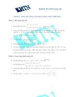 Đề thi thử toán THPT 2016