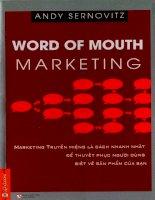 Marketing Truyền Miệng Andy Sernovitz