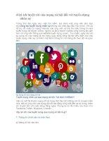4 lợi ích tuyệt vời của mạng xã hội đối với tuyển dụng nhân sự