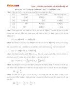Bài tập Vật lý lớp 10: Chuyển động tròn đều