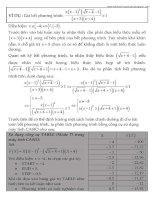 Ứng dụng của máy tính cầm tay trong giải phương trình   bất phương trình vô tỷ