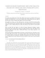 ĐÁNH GIÁ NGẪU NHIÊN MỨC SẴN LÒNG TRẢ CỦA NGƯỜI TIÊU DÙNG CHO THỰC PHẨM HỮU CƠ Ở ARGENTINA