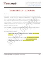 CV for accounting MS HOA TOEIC