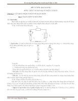 Đề cương bài giảng thực hành mạch điện cơ bản