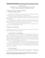 TÌM HIỀU về cấu TRÚC THỊ TRƯỜNG HÀNG hải và ở  PVTRAN năm 2013  TRIỂN VỌNG 2014