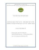 Luận văn Thạc sĩ Đánh giá đặc tính vật lý hóa học đất vườn trồng cam quýt ở huyện Lai Vung Đồng Tháp