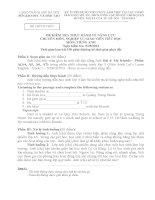 ĐỀ KIỂM TRA  và đáp án THỰC HÀNH về NĂNG lực CHUYÊN môn, NGHIỆP vụ GIÁO VIÊN TIỂU học môn TIẾNG ANH   số 1