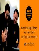How to keep client Làm thế nào để giữ chân khách hàng