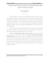 TỔ CHỨC kế TOÁN tại CÔNG TY cổ PHẦN HÀNG hải QUỐC tế HOÀNG MINH