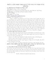 CÔNG tác kế TOÁN tại CÔNG TY TNHH TÙNG KHÁNH