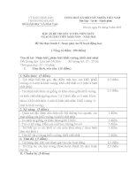 Đáp án đề thi xét tuyển viên chức ngạch giáo viên mầm non (phần thực hành soạn giáo án)