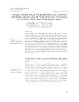 KẾT QUẢ NGHIÊN CỨU CHUỖI SẢN PHẨM VÀ XU HƯỚNG ĐA DẠNG HÓA NGUYÊN LIỆU GỖ RỪNG TRỒNG TẠI 6 TỈNH VÙNG DỰ ÁN PHÁT TRIỂN NGÀNH LÂM NGHIỆP (FSDP)