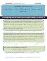 Luyện cấp tốc CHUYÊN ĐỀ oxy  phương trình bất phương trình  hệ (phần 19)