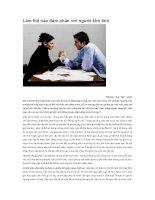 Làm thế nào đàm phán với người khó tính
