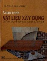 Giáo trình vật liệu xây dựng sách dùng cho các trường đào tạo hệ THCN   dạy nghề  phùng văn lự pdf