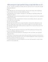 Đề thi phỏng vấn và giải quyết tình huống sư phạm khối mầm non số 1