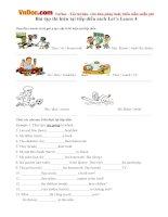 Bài tập thì hiện tại tiếp diễn sách Let's Learn 4