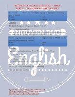 Hướng dẫn giải chi tiết Toeic part 5 (test 03) rất sát đề thi thật