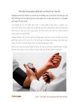 Bài tập hàng ngày giúp hạ cao huyết áp cấp tốc