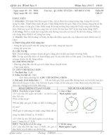 Giáo án HÌNH HỌC 9 mới nhất chỉ việc in (Tuyệt vời) HỌC KỲ 2