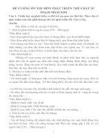 ĐỀ CƯƠNG ôn THI môn PHÁT TRIỂN THỂ CHẤT sư PHẠM mầm NON