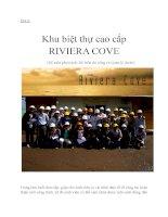 báo cáo thực tập  nhận thức ngành khu biệt thự cao cấp RIVIERA COVE