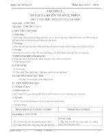 Giáo án số học 6 mới nhất chỉ việc in (Tuyệt vời) CẢ NĂM
