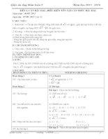Giáo án dạy thêm (dạy bồi dưỡng) toán 9 mới nhất chỉ việc in (Tuyệt vời) TẬP 1