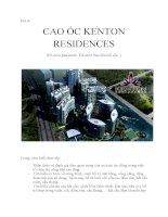 báo cáo thực tập nhận thức ngành CAO ốc KENTON RESIDENCES