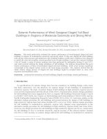 Seismic performance of wind designed diagrid tall steel buildings in regions of moderate seismicity and strong wind