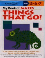 KUMON 5 6 7 my book of mazes things that go