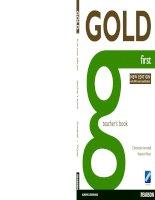 Gold first  teachers book