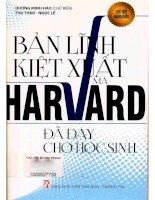 Bản lĩnh kiệt xuất mà harvard đã dạy cho học sinh  dương minh hào (chủ biên), thu thảo, ngọc lê