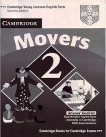 Cambridge English Movers 2 Answers Booklet