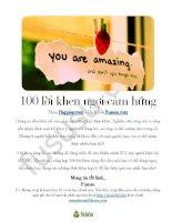 100 lời khen ngợi cảm hứng (song ngữ)
