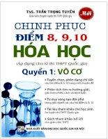 Chinh phục điểm 8,9,10 hóa học quyển 1 vô cơ