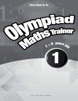 OLYMPIAD MATHS TRAINER 7  8 AGE