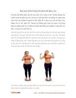 Hậu quả khôn lường khi nhịn đói giảm cân