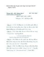 Đề thi HSG cấp huyện môn ngữ văn lớp 9 GD