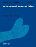 Environmental biology of fishes, tập 92, số 1, 2011