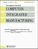 International journal of computer integrated manufacturing , tập 24, số 1, 2011